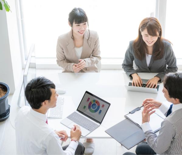 人材派遣・人材紹介・アウトソーシング・企業研修・語学研修人材に関する幅広いニーズにお応えします。